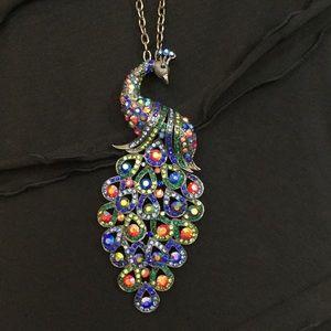 Cara Peacock Long Necklace